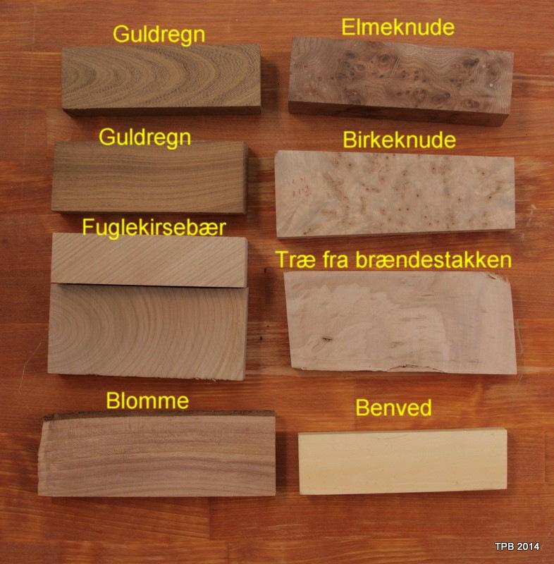 Træ danske træsorter m tekst