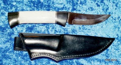 færdig kniv, 2 delt